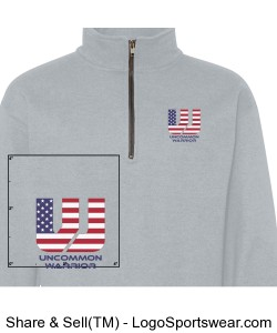 Gildan Adult  Vintage Classic Quarter Zip Cadet Collar Sweatshirt Design Zoom