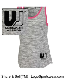 TRAIN HARDER - Womens Space-Dye Edged Tank Design Zoom